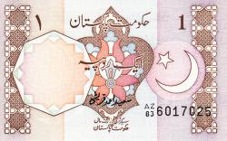 Image #1 of 1 Rupee ND (1983- ) - signature Saeed Ahmad Qureshi