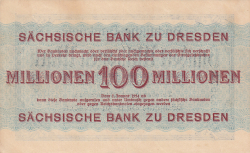 Image #2 of 100 Millionen (100 000 000) Mark 1923 (1. X.)