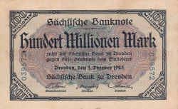 Image #1 of 100 Millionen (100 000 000) Mark 1923 (1. X.)