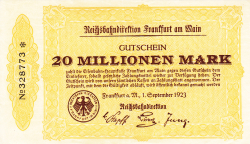 Image #1 of 20 Millionen (20 000 000) Mark 1923 (1. IX.)