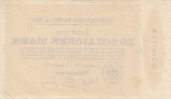 Image #2 of 20 Millionen (20 000 000) Mark 1923 (1. IX.)