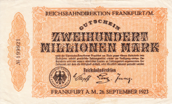 Image #1 of 200 Millionen (200 000 000) Mark 1923 (26. IX.)