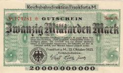 Image #1 of 20 Milliarden (20,000,000,000) Mark 1923 (22. X.) - 1