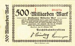 Image #1 of 500 Milliarden (500 000 000 000) Mark 1923 (24. X.)