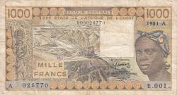 Image #1 of 1000 Francs 1981