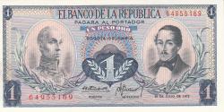 Imaginea #1 a 1 Peso Oro 1972 (20. VII.)