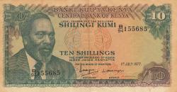 Imaginea #1 a 10 Shillings 1977 (1. VII.)