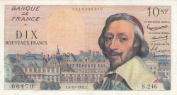 Imaginea #1 a 10 Franci Noi (Nouveaux Francs) 1962 (4. X.)