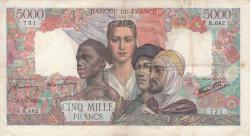 Image #1 of 5000 Francs 1945 (7. VI.)