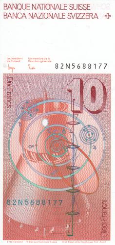 Image #2 of 10 Franken (19)82 - signatures Dr. Edmund Wyss / Dr. Markus Lusser (55)