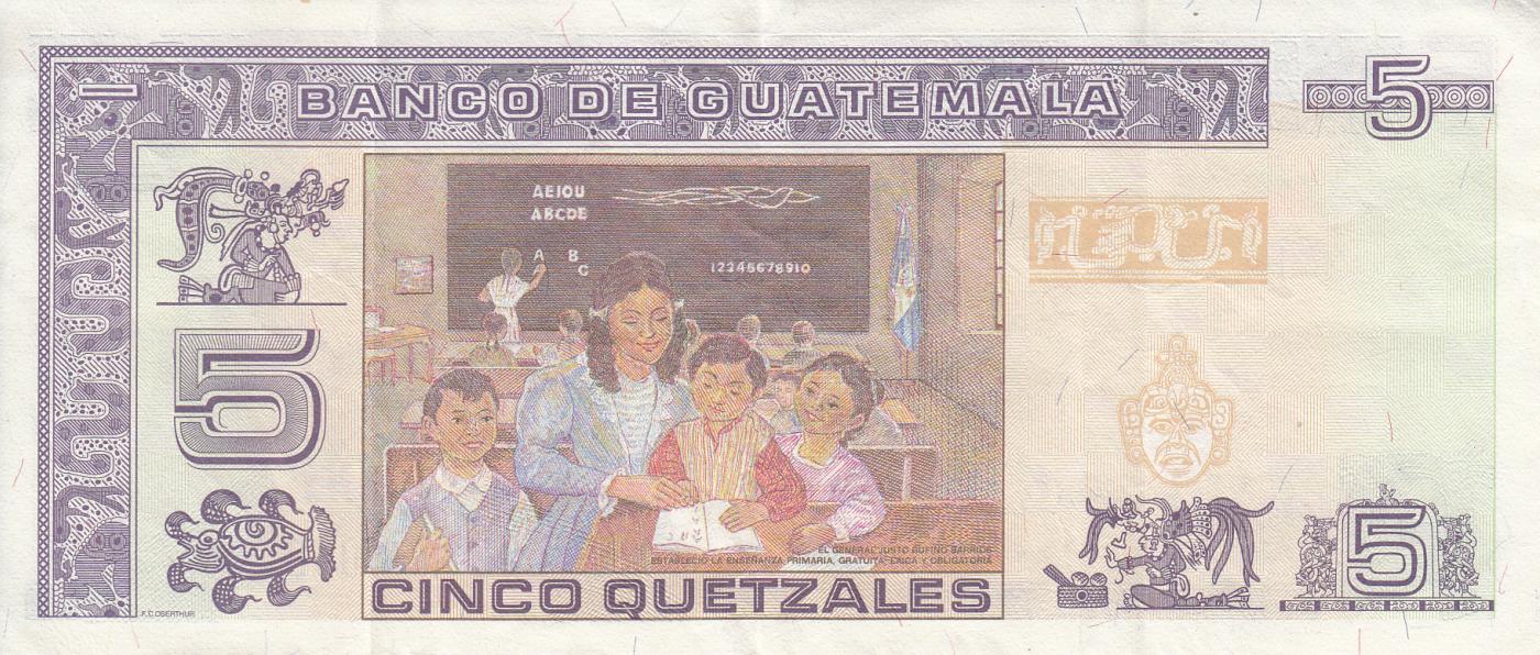 GUATEMALA 10 QUETZALES 2006 P 111 UNC