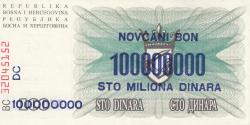 Imaginea #2 a 100 000 000 Dinari 1993 (10. XI.)