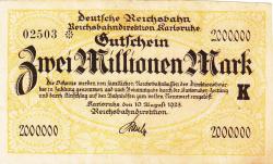 Image #1 of 2 Millionen (2 000 000) Mark 1923 (10. VIII.)