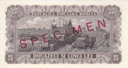 25 Lei 1952 - SPECIMEN