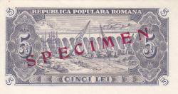 5 Lei 1952 - SPECIMEN