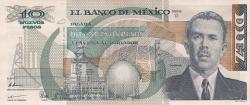 Image #1 of 10 Nuevos Pesos 1992 (31. VII.) - signatures Miguel Mancera Aquayo / Victor L. Urquidi