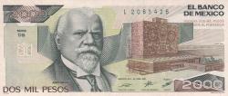 Image #1 of 2000 Pesos 1987 (24. II.) - Serie DB
