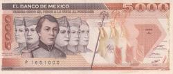 Image #1 of 5000 Pesos 1987 (24. II.) - Serie JL