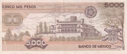 Image #2 of 5000 Pesos 1987 (24. II.) - Serie JL
