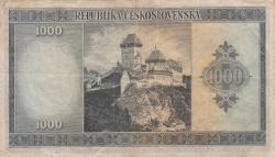 Imaginea #2 a 1000 Korun ND (1945)