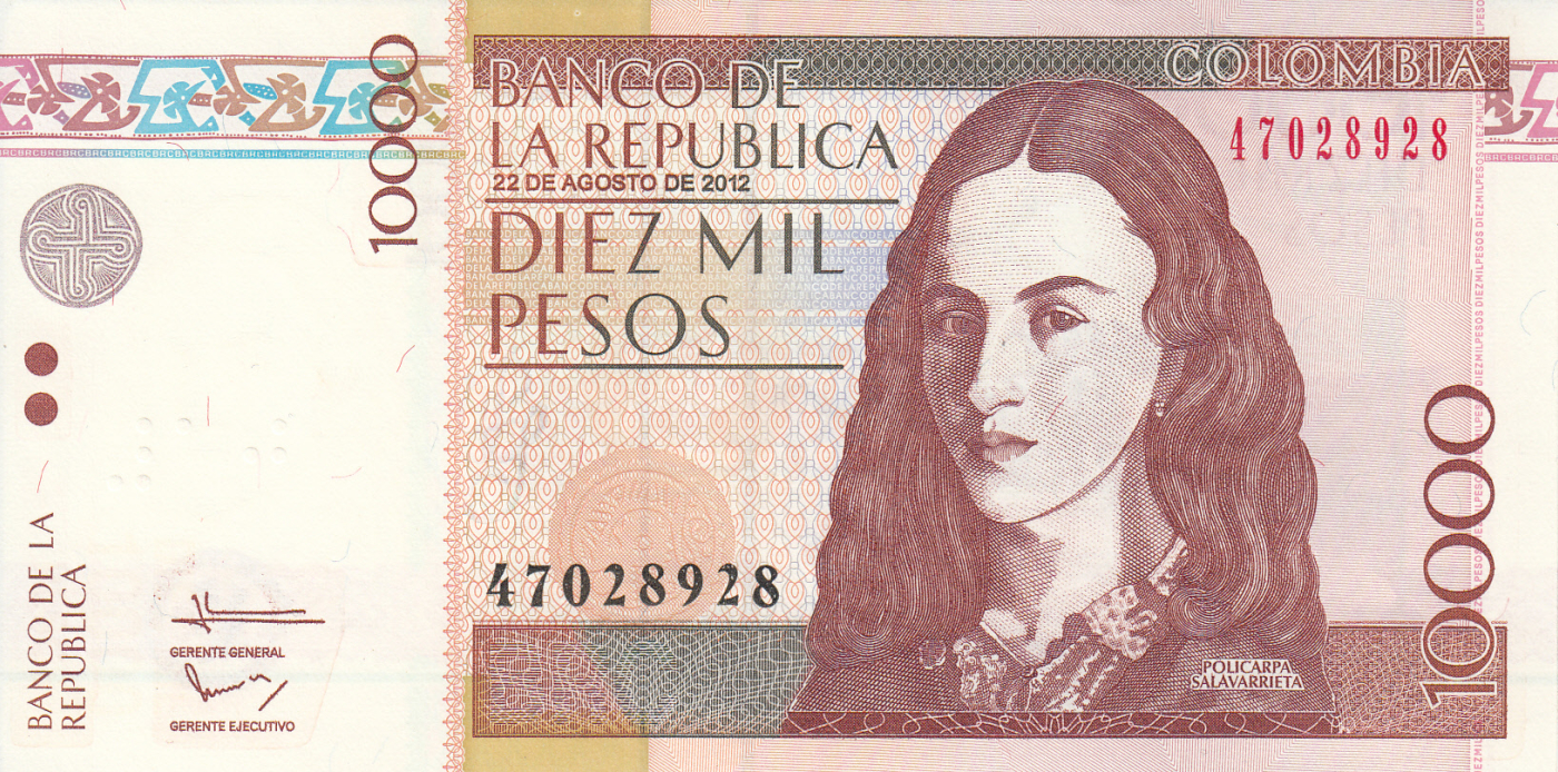 1000   PESOS   2014 COLOMBIA P 456 NEW  Uncirculated Banknotes