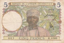 Image #1 of 5 Francs 1939 (27. IV.)