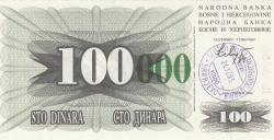 Imaginea #1 a 100 000 Dinari 1993 (24. XII.)