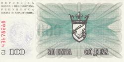 Imaginea #2 a 100 000 Dinari 1993 (24. XII.)