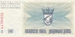 Imaginea #2 a 25 000 Dinari 1993 (24. XII.)