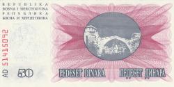 Imaginea #2 a 50 000 Dinari 1993 (24. XII.)