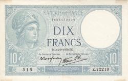 Imaginea #1 a 10 Franci 1939 (14. IX.)