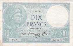 Image #1 of 10 Francs 1941 (16. I.)