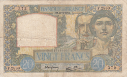 Image #1 of 20 Francs 1941 (20. II.)