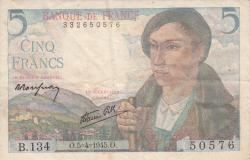 Image #1 of 5 Francs 1945 (5. IV.)
