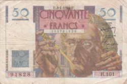 Image #1 of 50 Francs 1948 (8. IV.)