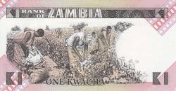 Imaginea #2 a 1 Kwacha ND (1980-88)
