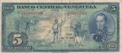 Imaginea #1 a 5 Bolivares 1966 (10. V.)