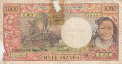 Image #1 of 1000 Francs ND (1996)