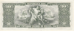 Image #2 of 10 Cruzeiros ND (1953-1960) - signatures Affonso Almino / Lucas Lopes