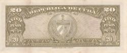 Image #2 of 20 Pesos 1958