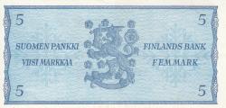 Imaginea #2 a 5 Markkaa 1963 - semnături Koivisto / Nars