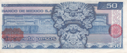 Image #2 of 50 Pesos 1976 (8. VII.) - Serie CP
