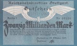 Image #1 of 20 Milliarden (20 000 000 000) Mark 1923 (19. X.) - Reihe 1