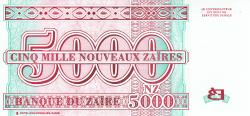 Image #2 of 5000 Nouveaux Zaires 1995 (30. I.)