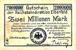 Imaginea #1 a 2 Millionen (2 000 000) Mark 1923 (16. VIII.)