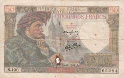 Imaginea #1 a 50 Franci 1941 (20. XI.)