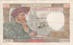 Image #1 of 50 Francs 1941 (24. IV.)