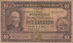 10 Escudos 1943 (15. IV.)