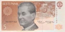 Imaginea #1 a 5 Krooni 1991