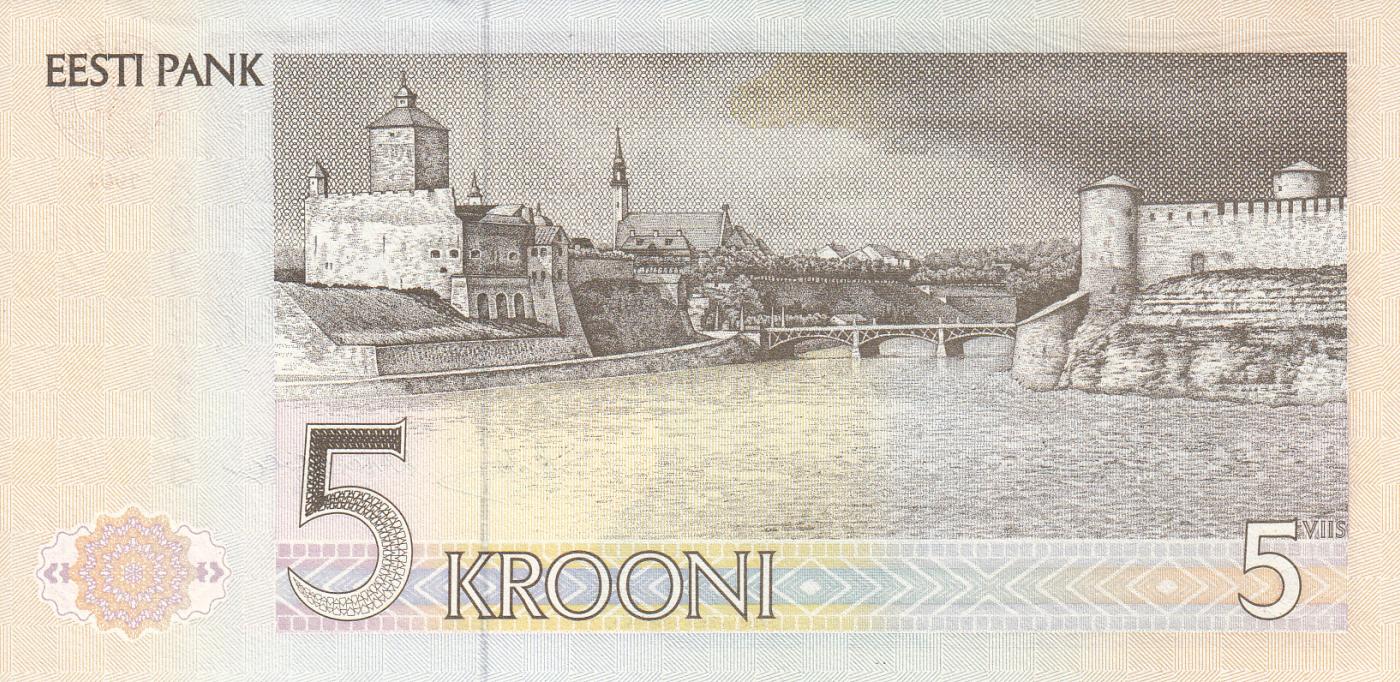 UNC 5 KROONI  1991 ESTONIA com P 71a